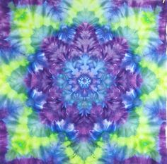 Tie Dye Tapestry by LimSpace on Etsy. Handmade and one of a kind works of art.  #tiedye #tapestry #art #wallhanging #trippy #blazed #hippy #yoga #vegan #mystic #cosmic #purple #green #peace #handmade #giftidea
