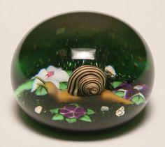 Baccarat French domed glass paperweight