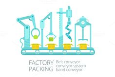 Conveyor factory packing by Kalinin on @graphicsmag