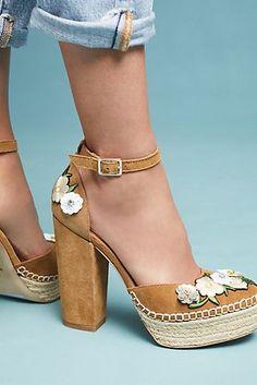 Bill Blass Emma Embellished Platform Heels