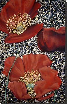 Mounted Poppy Prints...(get your FREE copy of my book 'Creative Expression' @ www.cherieroedirksen.com)