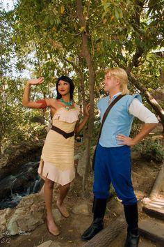 Pocahontas and John Smith Cosplay Disneyland by chingrish.deviantart.com
