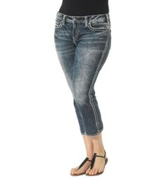 I just entered to win my wishlist, and you should too! Click now to enter!  Suki Mid Capri Dark Wash