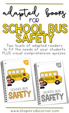 Teaching students the appropriate behaviors and actions of riding on the school bus is very important, especially at the very beginning of the school year and with our younger learners. Includes two leveled readers and a visual comprehension quiz for each book. Only at Mrs. D's Corner.