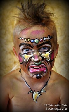 Savage. Face paint by Tanya Maslova.