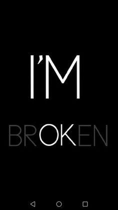 """""""Eu estou quebrado"""" frase intera """"Eu estou bem """" frase em branco #bad"""