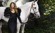 Gigi Hadid Enchants in Haute Couture Looks for BAZAAR Editorial - Chanel Gown - Trending Chanel Gown - Gigi Hadid (in Chanel) for Harpers Bazaars October Photographed by Karl Lagerfeld. Haute Couture Looks, Karl Lagerfeld, Zuhair Murad, Harpers Bazaar, Sports Illustrated, Bella Hadid, Elie Saab, Lineisy Montero, Valentino