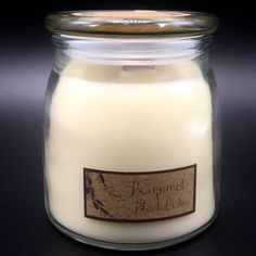 Eco Wix Wood Wick Bergamot Black Cedar Scented Candle in Butter Jar 15 Oz #EcoWix