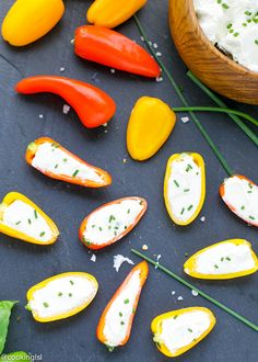 Mini Peppers With Whipped Feta