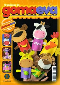 Revistas de manualidades Gratis: Muñecos para dedos en goma eva