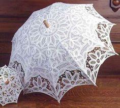 Vintage lace parasol