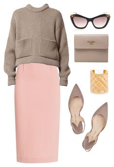 """relaxed classic."" by sharplilteeth ❤ liked on Polyvore featuring Roland Mouret, Paul Andrew, Balmain, Prada and Miu Miu"