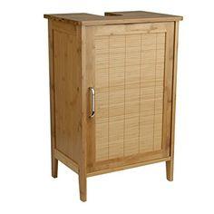 Waschtischunterschrank Bambus Braun 30 X 40 X 60 Cm   Aussparung Für Siphon    Verstellbarer Einlegeboden