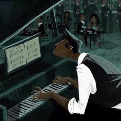 The Piano Man. #illustration