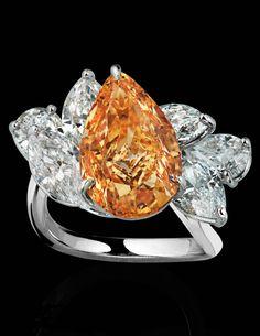 Orange Diamond Jewelry - Orange Garnet and Gemstones - Town & Country