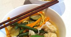 Chicken Wonton and Noodle Soup