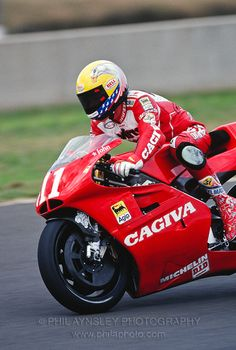 Cagiva C594. John Koscinski at the '94 Australian GP,Eastern Creek, NSW.