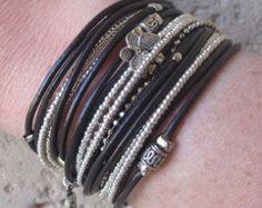 Wrap Bracelet// Rustic Wrap Bracelet// Leather by DesignsbyNoa