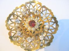 Coro Brooches Vintage Flower Pins Signed by greenleafvintage1, $32.99