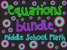 The+resources+in+this+bundle+emphasizes+solving+equations+involving+rational+numbers+including+positive+and+negative+integers,+decimals,+and+fractions.++Problem+solving+and+application+is+also+emphasized+in+the+resources.++Students+will+be+asked+to+write+their+own+equations+for+real-life+situations,+and+solve+geometric+application+questions+involving+equations.