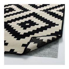 LAPPLJUNG RUTA Vloerkleed, laagpolig, wit wit/zwart, zwart 200x300 cm wit/zwart
