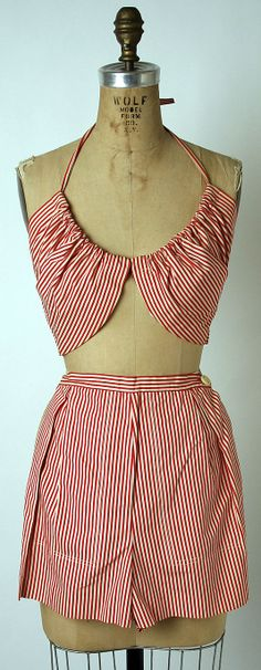 Sun/Beach ensemble 1943-44 by Claire McCardell  (American, 1905–1958) Manufacturer: Townley Frocks (American)