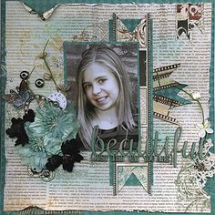 Bo Bunny - Mama[razzi 2 - beautiful (just the way you are) - Memoriesofmygirls… Scrapbook Journal, Baby Scrapbook, Scrapbook Albums, Scrapbook Paper, Scrapbook Layout Sketches, Scrapbooking Layouts, Digital Scrapbooking, Smash Book Pages, Altered Canvas