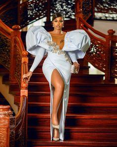 Stunning Dresses, Elegant Dresses, Nice Dresses, Aso Ebi Dresses, Ivory Prom Dresses, Ankara Skirt And Blouse, Aso Ebi Styles, Types Of Fashion Styles, Love