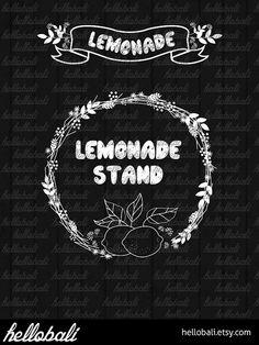 Lemonade stand sign.