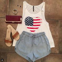 #Memorial Day Ready!  {#SALE} >> 20% OFF the entire store << #Tank {$35.00}  #Shorts {$87.00}  #Sandals {$62.00}  #Clutch {$50.00}  Don't forget to stop in to {L&L} to pick up your #free #LilacAndLilies Flash Tattoo >> Post a photo on social media wearing the #FlashTat >> Follow, Tag @Lilacandlilies_boutique >> use hashtag #myLLstyle >> Show a stylist and get 20% off your next purchase until June 25th << Please call 954.530.3109 to order!