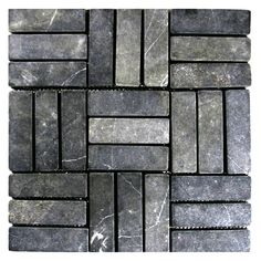 Grey Weave Stone Mosaic Tile - Pebble Tile Shop Stone Mosaic Tile, Mosaic Tiles, Shower Floor, Tile Floor, Bathroom Flooring, Backsplash, Interior And Exterior, Swimming Pools, Weave