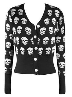 Womens Owl Skull Bones Cross X Print Top Ladies Charcoal Knitted Jumper Sweater