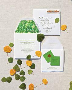 Leafy invitation suite