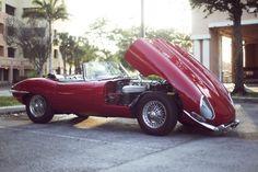 Jaguar XKE 1964...Bonnet Up / Nose Down