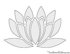Meaning of lotus flower and vector stencil designs lotus lotus flower stencil pronofoot35fo Choice Image