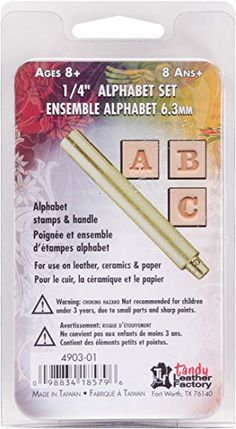 Easy To Do Alphabet Stamp Set 1/4 Inch Tandy Leather 4903-01 Review