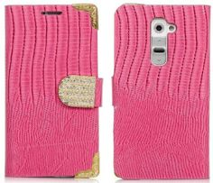 myLife Frosted Tulip Pink Crocodile Diamond Series {Country Design} Faux Leather (Multipurpose - Card, Cash and ID Holder + Magnetic Closing...
