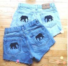 shorts clothes elephant beautiful