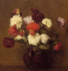 Oil Paintings of 3 Flowers Poppies flower painter Henri Fantin Latour Art for sale by Artists Oil Painting Flowers, Oil Painting On Canvas, Painting Frames, Canvas Art Prints, Henri Fantin Latour, Oil Painting Reproductions, Pink Art, Paintings For Sale, Oil Paintings