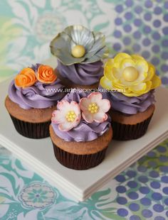 Cupcakes with fresh flowers flower blooming beauty nature natural pink yummy pretty