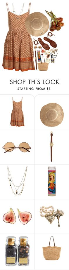 """""""Macedonia"""" by leapastel-luv ❤ liked on Polyvore featuring MINKPINK, Hat Attack, River Island, Orelia, Eos, Moleskine, Debauve & Gallais, Bop Basics and Korres"""