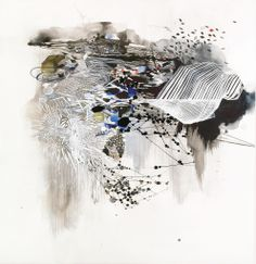 Reed Danziger - Black Ice | From a unique collection of abstract drawings and watercolors at http://www.1stdibs.com/art/drawings-watercolor-paintings/abstract-drawings-watercolors/