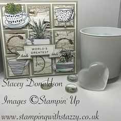 Stamping with Stazzy: 🙐 Coffee Cup Fathers Day Card 🙓 Hi Everyone! Coffee Crafts, Fathers Day, Coffee Cups, Stampin Up, Have Fun, Gallery Wall, Paper Crafts, Place Card Holders, Creative