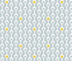 Modspoons Gray fabric by patriciazapata on Spoonflower - custom fabric