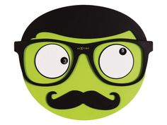 Wanduhr MR Mustache Nextime grün