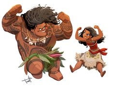 Illustrations and etc. by Tyson Hesse (I enjoyed Moana a whole heck of a lot.)
