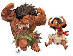 Illustrations and etc. by Tyson Hesse (I enjoyed Moana a whole heck of a lot.)