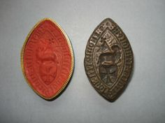 Bronze seal of the Order of St John of Jerusalem; bronze; pointed oval; shaped ridge; pierced; shield of arms bearing Maltese cross; Agnus Dei; foliage in the field; legend; wax impression. Late 15th Century. #OrderofMalta #SMOM  Inscription Content  *S: INDULGECIE: HOSPITALIS:IERUSALEM:  Inscription Transliteration  Sigillum indulgencie Hospitalis Ierusalem  Inscription Translation  Seal of the Indulgence of the Hospital of Jerusalem  Acquisition date by the British Museum: 1872…