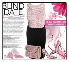 """Blind Date"" by jeneric2015 ❤ liked on Polyvore featuring Alexander McQueen, Balmain, Moschino, Jimmy Choo and blinddate"
