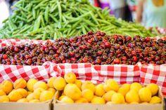 landbouwers: Verse biologische producten op de lokale boeren markt.